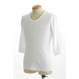 その他 米軍 ドッグタグ付き コットンサーマルUネックシャツ 五分袖 ホワイト Lサイズ ds-467928