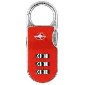 その他 【防犯グッズ:旅行用】YALE(エール)旅行用TSAロック(CLIP ON LOCK) レッド ds-507447