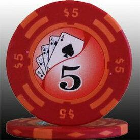 その他 フォースポット チップ ( 5$ ) <25枚セット> - カジノチップ・ポーカーチップ ds-725800