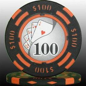 その他 フォースポット チップ ( 100$ ) <25枚セット> - カジノチップ・ポーカーチップ ds-725803