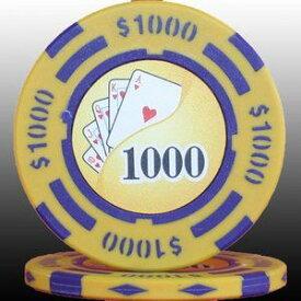 その他 フォースポット チップ ( 1000$ ) <25枚セット> - カジノチップ・ポーカーチップ ds-725805