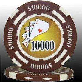 その他 フォースポット チップ ( 10000$ ) <25枚セット> - カジノチップ・ポーカーチップ ds-725807