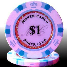 その他 MONTECARLO モンテカルロ・ポーカーチップ<1>白 25枚セット ds-729540