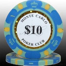 その他 MONTECARLO モンテカルロ・ポーカーチップ<10>青 25枚セット ds-729542