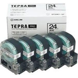 その他 キングジム テプラ PROテープ/ラベルライター用テープ 【幅:24mm】 5個入り ST24K-5P 透明 ds-1294222