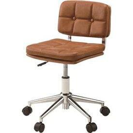 その他 デスクチェア(椅子) 昇降機能付き スチール/ソフトレザー/合皮 RKC-301BR ブラウン ds-1386653