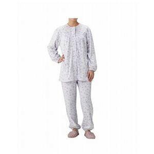 その他 丸十服装 介護パジャマ 婦人用 オールシーズン BK1801 フラワーパープル /L ds-1447207
