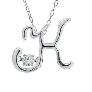 その他 ダンシングストーン K18WG・天然ダイヤモンドシリーズイニシャル「K」ペンダント/ネックレス ds-1451284