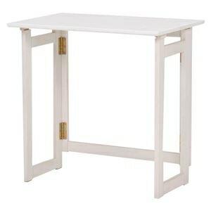 その他 折りたたみテーブル/作業机 【長方形/幅70cm】 木製 木目調 ホワイト(白)【代引不可】 ds-1314895