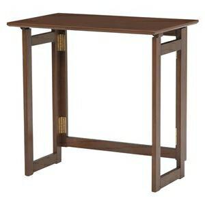 その他 折りたたみテーブル/作業机 【長方形/幅70cm】 木製 木目調 ブラウン 【代引不可】 ds-1314896