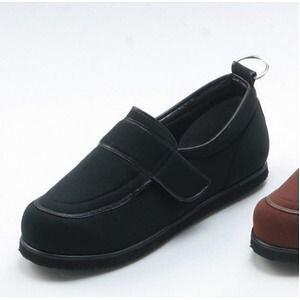 その他 介護靴/リハビリシューズ ブラック(黒) LK-1(外履き) 【片足23.5cm】 3E 左右同形状 手洗い可/撥水 (歩行補助用品) 日本製 ds-1450723