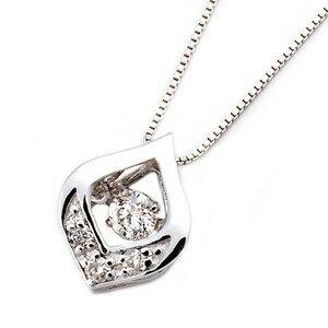 その他 ダイヤモンドペンダント/ネックレス 一粒 K18 ホワイトゴールド 0.1ct ダンシングストーン ダイヤモンドスウィングネックレス 揺れるダイヤが輝きを増す☆ 雫モチーフ 揺れる ダイヤ ds-1520781