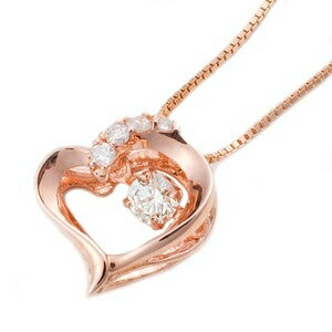 その他 ダイヤモンドペンダント/ネックレス 一粒 K18 ピンクゴールド 0.1ct ダンシングストーン ダイヤモンドスウィングネックレス 揺れるダイヤが輝きを増す ハートモチーフ 揺れる ダイヤ 鑑別書付き ds-1520783