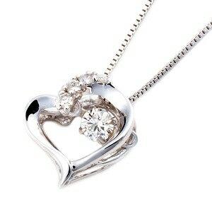 その他 ダイヤモンドペンダント/ネックレス 一粒 K18 ホワイトゴールド 0.1ct ダンシングストーン ダイヤモンドスウィングネックレス 揺れるダイヤが輝きを増す ハートモチーフ 揺れる ダイヤ 鑑別書付き ds-1520784