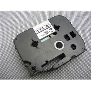 その他 (業務用セット) マックス ビーポップ ミニ(PM-36、36N、36H、24、2400)・レタリ(LM-1000、LM-2000)共通消耗品 強粘着テープ 8m LM-L524BMK つや消し銀 黒文字 1巻8m入 【×2セット】 ds-1523877