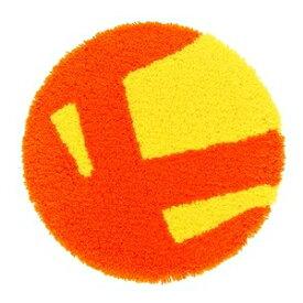 その他 チェアマット/フロアマット 【35cm×35cm オレンジ】 円形 日本製 防ダニ 防滑 PIKA PAD ピカパッド 『デザインライフ』【代引不可】 ds-1541571