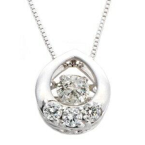 その他 ダイヤモンドペンダント/ネックレス 一粒 K18 ホワイトゴールド 0.2ct ダンシングストーン ダイヤモンドスウィングネックレス 揺れるダイヤが輝きを増す 雫モチーフ 揺れる ダイヤ 鑑別書付き ds-1568155