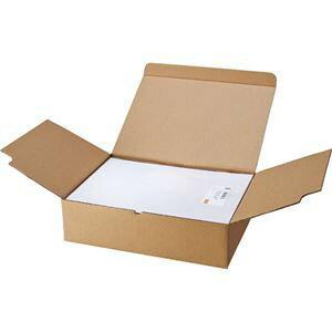 その他 (まとめ) TANOSEE マルチプリンターラベル 業務用パック A4 ノーカット 1箱(500シート:100シート×5冊) 【×2セット】 ds-1573109