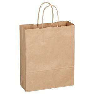その他 (まとめ) TANOSEE 紙手提袋 丸紐 小 ヨコ260×タテ320×マチ幅100mm 茶 1パック(50枚) 【×5セット】 ds-1574352