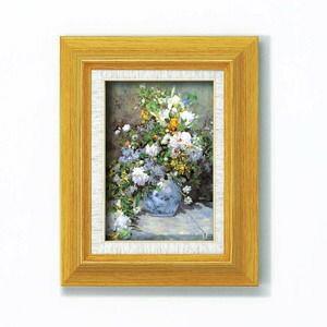 その他 名画額縁/フレームセット 【サム】 ルノワール 「花瓶の花」 273mm×343mm×48mm 壁掛けひも付き ds-1608060