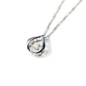 その他 ダンシングストーン プラチナ ダイヤモンド しずく型 ペンダント スクリューチェーン ds-1628044