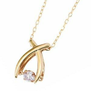 その他 ダイヤモンドペンダント/ネックレス 一粒 K18 イエローゴールド 0.08ct ダンシングストーン ダイヤモンドスウィングネックレス 揺れるダイヤが輝きを増す☆ リボンモチーフ 揺れる ダイヤ ds-1648368