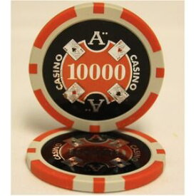 Quattro Assi(クアトロ・アッシー)ポーカーチップ(10000)橙 【25枚セット】 ds-1663892