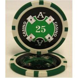 その他 Quattro Assi(クアトロ・アッシー)ポーカーチップ(25)緑 <25枚セット> ds-1663893