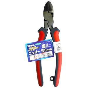 その他 (業務用5個セット) trad パワー圧着ニッパー(DIY 工具 プライヤー) TPN-150mm レッド&グレー ds-1671233