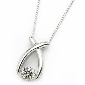 その他 ダイヤモンド ネックレス プラチナ Pt900 0.3ct 揺れる ダイヤ ダンシングストーン ダイヤネックレス リボン ペンダント ds-1718293
