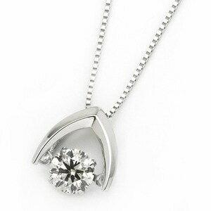 その他 ダイヤモンド ネックレス プラチナ Pt900 0.3ct 揺れる ダイヤ ダンシングストーン ダイヤネックレス 傘 カサ ペンダント ds-1718294