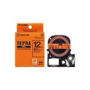 その他 (業務用50セット) キングジム テプラPROテープ/ラベルライター用テープ 【幅:12mm】 SK12D 蛍光橙に黒文字 ds-1734982