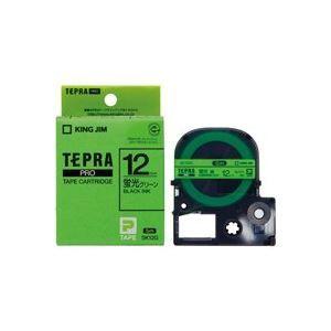 その他 (業務用50セット) キングジム テプラPROテープ/ラベルライター用テープ 【幅:12mm】 SK12G 蛍光緑に黒文字 ds-1734984