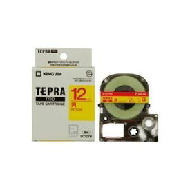 その他 (業務用50セット) キングジム テプラPROテープ/ラベルライター用テープ 【幅:12mm】 SC12YR 黄に赤文字 ds-1734986