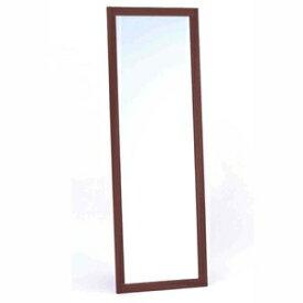 その他 飛び散らないウォールミラー/全身姿見鏡 【壁掛け用】 木製フレーム 飛散防止加工 日本製 ブラウン ds-1848922