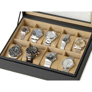 その他 時計収納ケース ウォッチケース カーボン調 9本収納時計ケース コレクションボックス 時計雑貨 CABOX8