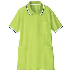 その他 (業務用2セット) 自重堂 半袖ロングポロシャツ WH90338 ライム 3L ds-1912925