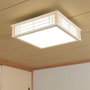 オーム電機 天然木使用LED和風シーリングライト 12畳用昼光色(06-0656) LE-W50DBK-K