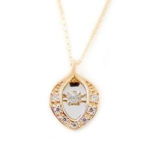 その他 ダイヤモンド ネックレス K10 イエローゴールド 0.1ct ダンシングストーン ハート&キューピッド H&C Hカラー SIクラス 揺れるダイヤが輝きを増す 揺れる ダイヤ ペンダント 限定1点限り ds-1942056