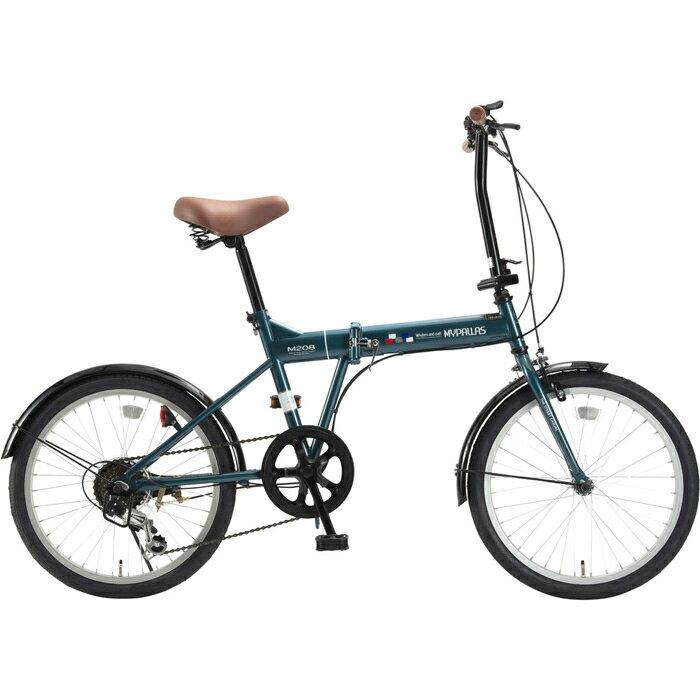 マイパラス 折畳自転車20インチ・6段ギア 折畳20・6SP (オーシャン) M-208-OC【納期目安:07/中旬入荷予定】