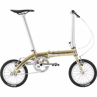 DAHON(ダホン) ダヴ プラス(Dove Plus) 14インチ アルミフレーム プレミアムゴールド 6.97kg 折りたたみ自転車 DHN18DVP-PGD