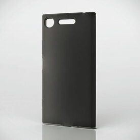 エレコム Xperia XZ1/シリコンケース/ブラック PM-XZ1SCBK【納期目安:11/22入荷予定】