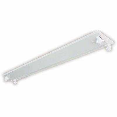オーム電機 LED40形直管専用 逆富士2灯型 照明器具(ランプ別売) LT-FL24-T-W