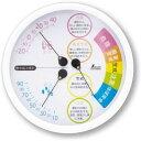 シンワ測定 温湿度計 F−3L 熱中症注意丸型 15 ホワイト 70505 4960910705050