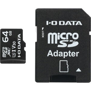アイ・オー・データ機器 UHS-I UHSスピードクラス3/Video Speed Class 30対応 microSDメモリーカード 64GB MSDU13-64G