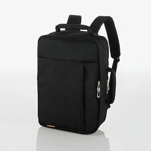 エレコム エレコム バックパック ビジネスバッグ 3WAY(リュック/ショルダー/手提げ) 撥水 軽量 斜めがけOK メンズ/レディース 収納サイズ(A4 13.5/14/15/15.4/15.6インチ MacBook Pro 15) ブラック(黒) BM-SN0