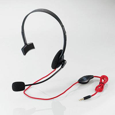 エレコム モンスターハンター:ワールド×エレコム/4極ヘッドセットマイクロフォン/片耳オーバーヘット/1.0m/PS4専用/ブラック HS-MHW01BK