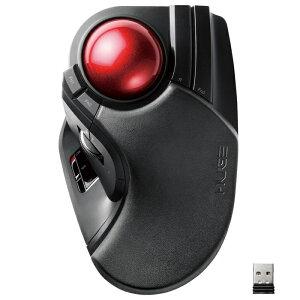 エレコム トラックボールマウス/大玉/8ボタン/チルト機能/無線/ブラック M-HT1DRXBK