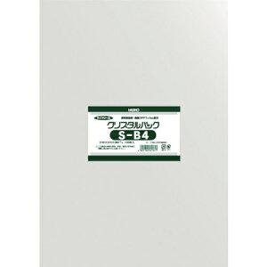 トラスコ中山 HEIKO OPP袋 テープなし クリスタルパック S-B4 6739300S2738