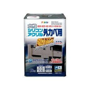 その他 水性シリコンアクリル外かべ用 ソフトグレー 16KG ds-1854569